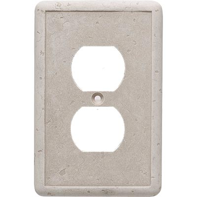 Questech Dorset Switch Plates - Travertine Single Duplex QUESW10101