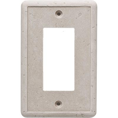Questech Dorset Switch Plates - Travertine Single GFCI QUESW10301