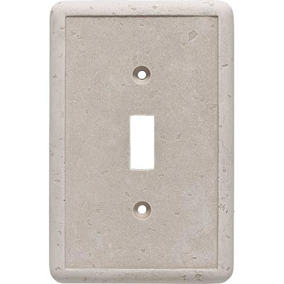 Questech Dorset Switch Plates - Travertine Single Toggle QUESW10201