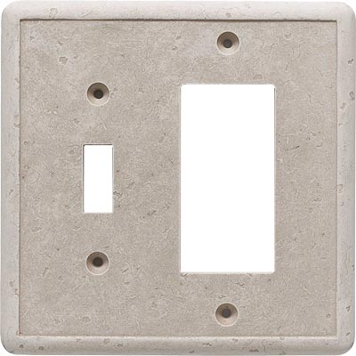 Questech Dorset Switch Plates - Travertine Toggle GFCI Combo QUESW10901