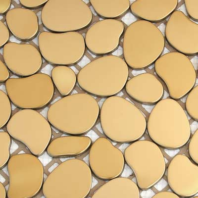 Solistone Chromatic 12 x 12 Metal Pebbles Solar (Matte Gold) SOL9001