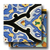 Hand Painted Mission Deco Tiles 6 x 6