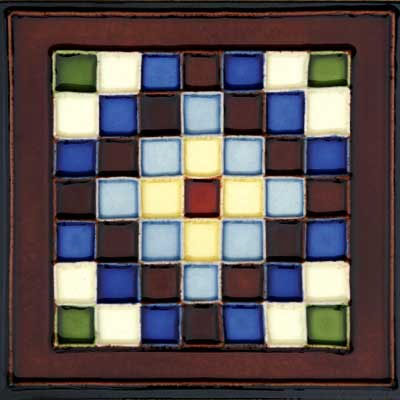 Solistone Hand Painted Mission Deco Tiles 6 x 6 Cuadros SOLCUADROS