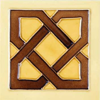 Solistone Hand Painted Mission Deco Tiles 6 x 6 Dulce SOLDULCE
