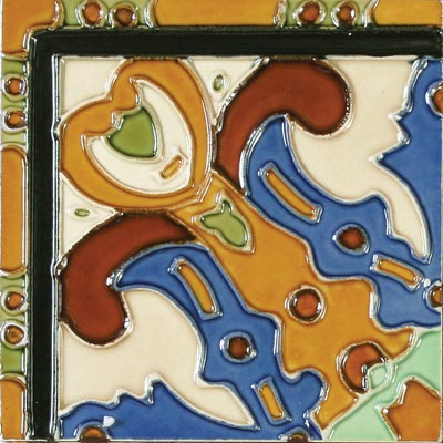 Solistone Hand Painted Mission Deco Tiles 6 x 6 Figuras