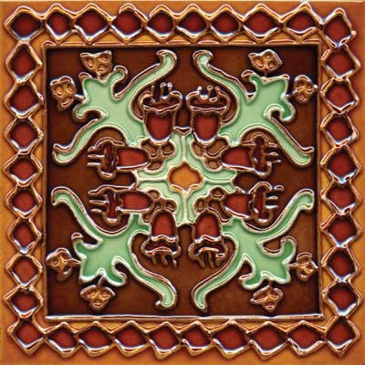 Solistone Hand Painted Mission Deco Tiles 6 x 6 Oaxaca