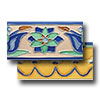 Hand Painted Deco Border Tiles 3 x 6