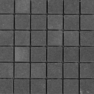 Solistone Charcoal Sandstone Charcoal Square Mosaic SOLSNDSTONEBLK05