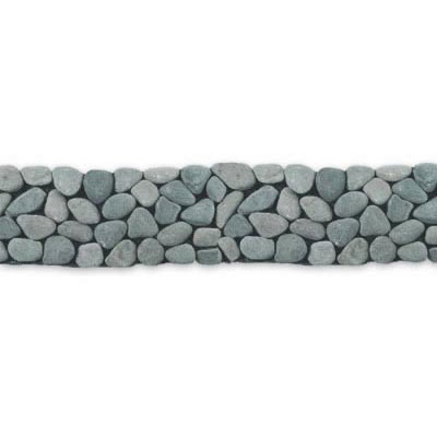 Solistone River Rock Border 4 x 39 River Gray 6009B1