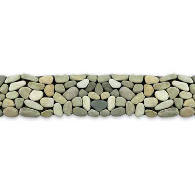 Solistone River Rock Border 4 x 39 Turquoise 6006B1