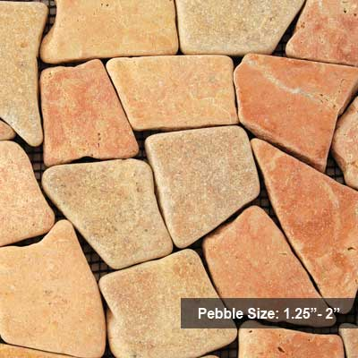 Solistone Indonesian Mosaic 12 x 12 Sumatra Red SOL6003