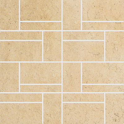 Stone Peak Limestone New Mosaic Design 2 Cream Gold USH12D2004