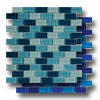 Aqua Blends 1 x 2 Crystal Mosaics