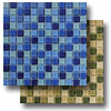 Glass Mosaic - Aqua Color Blend 1 x 1