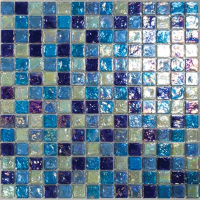 Tesoro Reflections Blends - 1 x 1 Mixed Mosaic #4 Blended KEEKELU11BL4