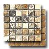Pietra Antica Select Travertine Mosaic 2 x 2