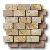 Pietra Antica Select Travertine Mosaic 2 x 4