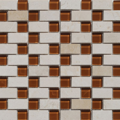 Tesoro Stone & Glass - Stair Steps Mosaics #1 Staggered SALUSTCR