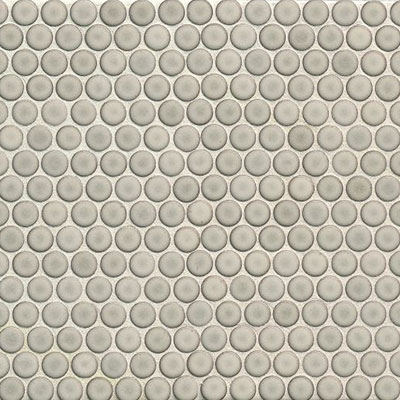 Bedrosians 360 Penny Rounds Mosaic Gloss Dove Grey