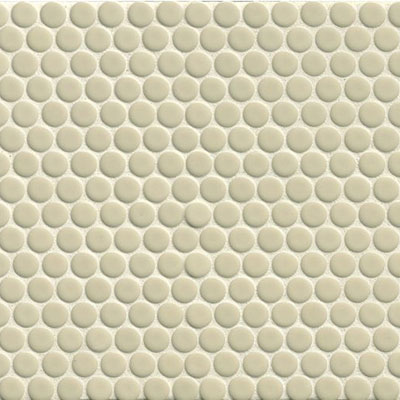 Bedrosians 360 Penny Rounds Mosaic Gloss Off White
