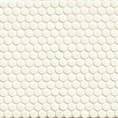 Bedrosians 360 Penny Rounds Mosaic Gloss White