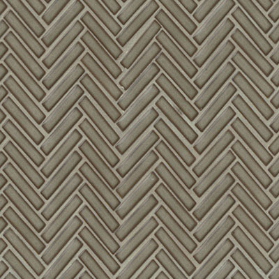 Bedrosians 90 Degree Herringbone Mosaic Gray Haze