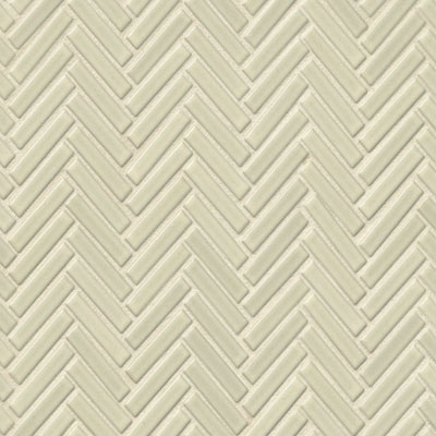 Bedrosians 90 Degree Herringbone Mosaic Off White