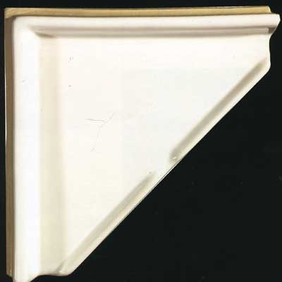 Tilecrest Bath Accessories Shampoo Shelf White TCRSHELFW