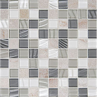 Bedrosians Elume Mosaic 1 1/8 x 1 1/8 Heather Grey