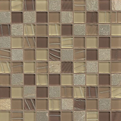Bedrosians Elume Mosaic 1 1/8 x 1 1/8 Maple Run
