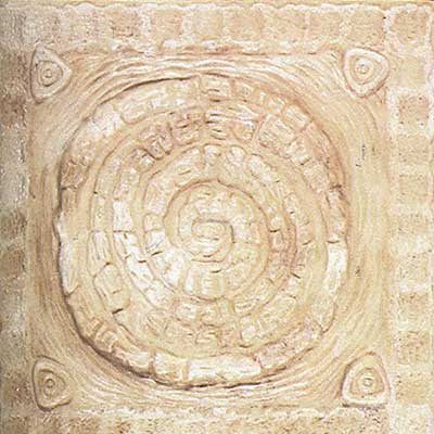 Tilecrest FauxStone Resin Decos Deco Circle Almond TCRRES42A