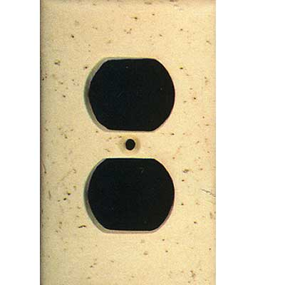 Tilecrest FauxStone Resin Switch Plates Receptacle Plate Beige TCRRES31BE