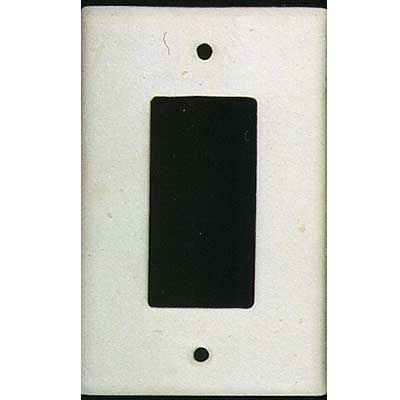 Tilecrest FauxStone Resin Switch Plates Rectangular Receptacle Plate White TCRRES32WH