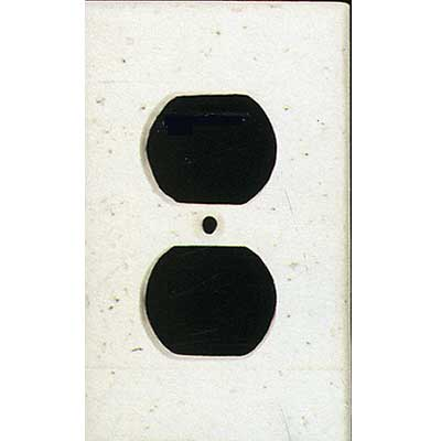 Tilecrest FauxStone Resin Switch Plates Receptacle Plate White TCRRES31WH