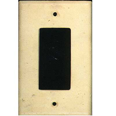 Tilecrest FauxStone Resin Switch Plates Rectangular Receptacle Plate Beige TCRRES32BE