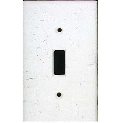 Tilecrest FauxStone Resin Switch Plates Switch Plate White TCRRES30WH