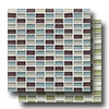 Hamptons Glass Mini Brick Blend Mosaic