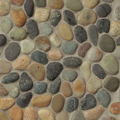 Bedrosians Hemisphere Pebble Mosaic Unglazed Riverbed Unglazed