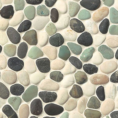 Bedrosians Hemisphere Pebble Mosaic Unglazed Seaside Unglazed