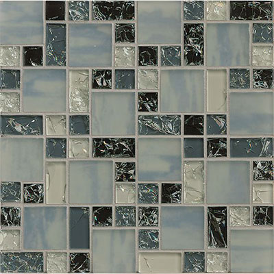 Tilecrest Ice Crackle Mosaic Gloss Gray GLS MGICG4