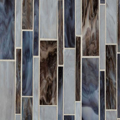 Bedrosians Retrospect Glass Mosaic 11 1/2 x 12 Blue Velvet Blend