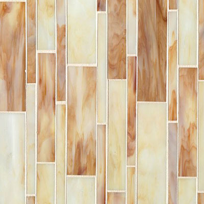 Bedrosians Retrospect Glass Mosaic 11 1/2 x 12 Butterscotch Blend