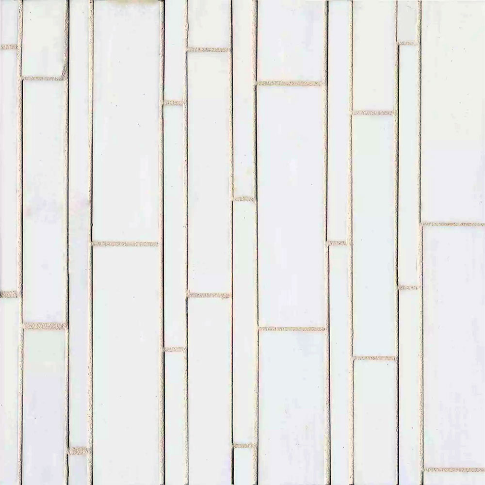 Bedrosians Retrospect Glass Mosaic 11 1/2 x 12 Palladium White