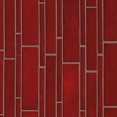 Bedrosians Retrospect Glass Mosaic 11 1/2 x 12 Rouge