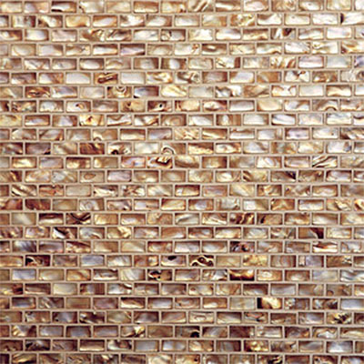 Tilecrest Shell Brick Joint Mosaic Antique Gold TCR MGS22