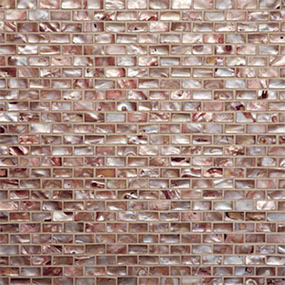 Tilecrest Shell Brick Joint Mosaic Copper TCR MGS23
