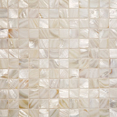 Tilecrest Shell 1 x 1 Mosaic Oyster TCR MGS1