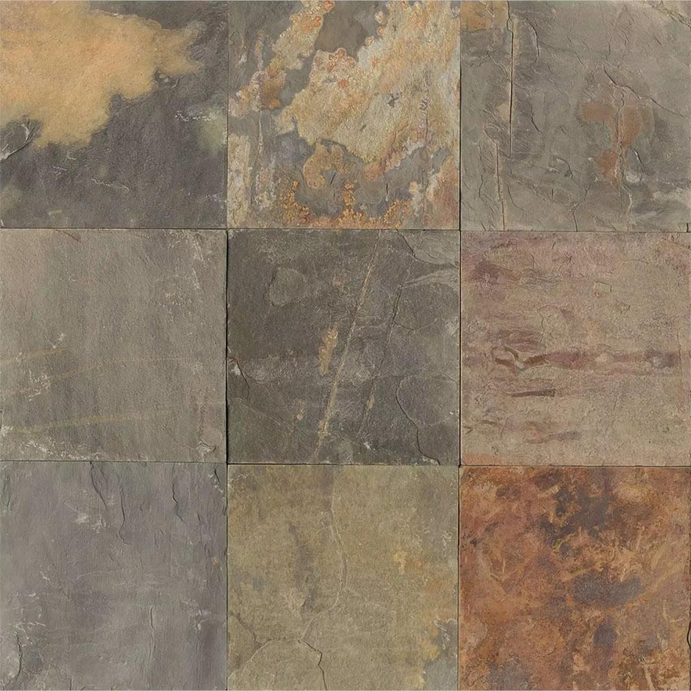 Tilecrest Slate Stone 12 X 12 Butterscotch Gauged