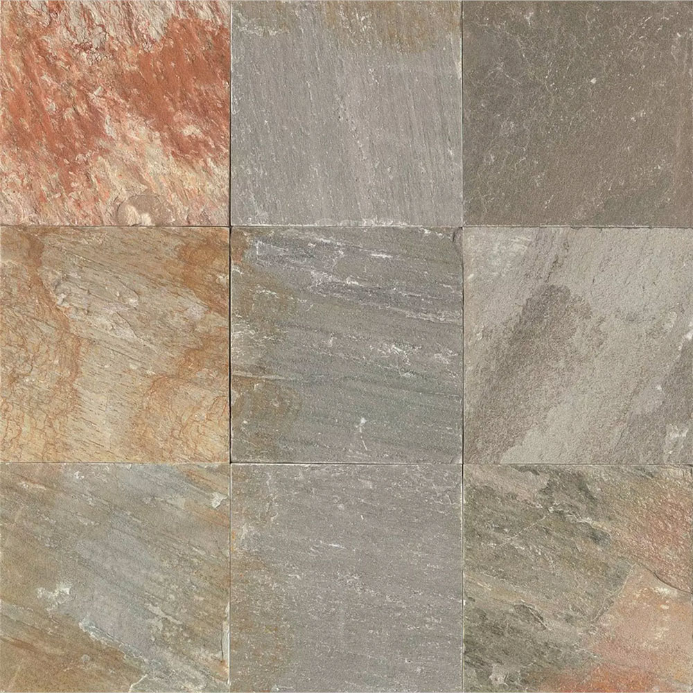 Tilecrest slate stone 16 x 16 amber gold gauged for 16 inch floor tile