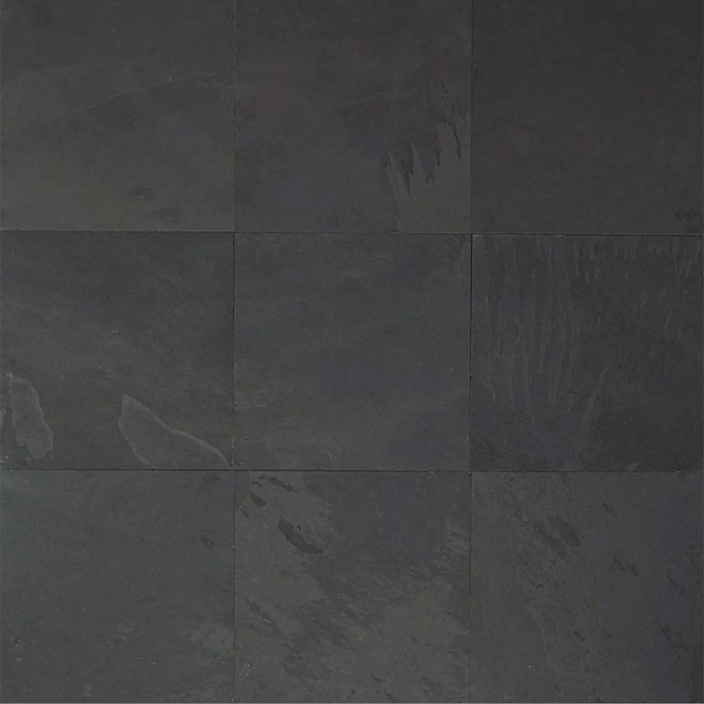 Tilecrest slate stone 16 x 16 black pearl gauged for 16 inch floor tiles